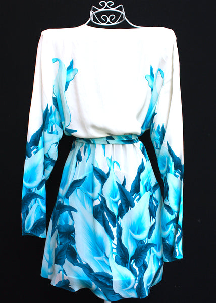 Embellished Silk Kimono Coverup w/ Belt. French Lover