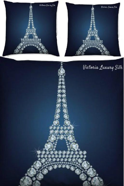 Duvet cover with pure silk pillow – Paris in Love