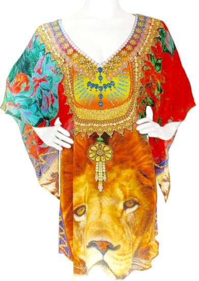 Tunic crowned with royal jewels. King