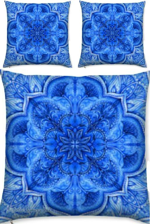Exquisite blue silk tunic crystal embellishment – Bijoux Blue