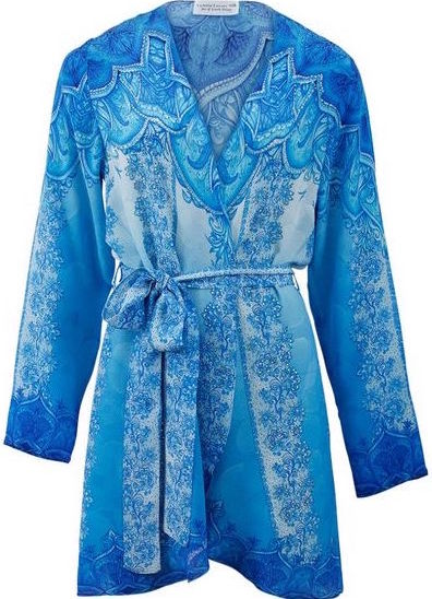 Kimono jacket Coverup w/ Belt. French ladie