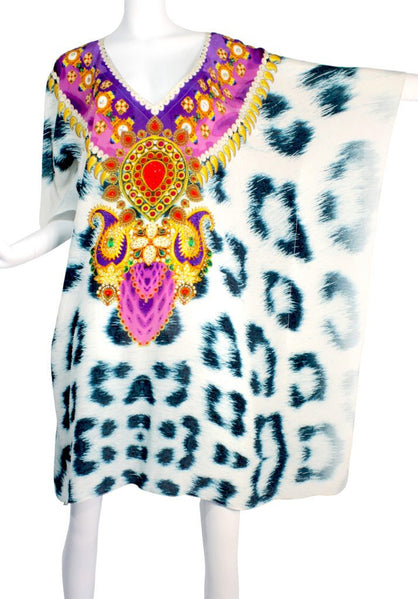 SOLD OUT Pre-Order 3 Weeks. Short kaftan snow leopard fur. Snow Leopard