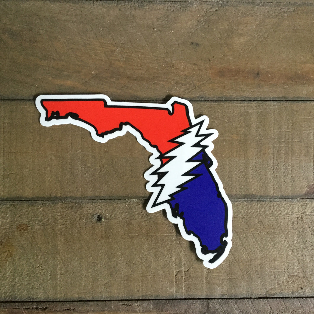 Dead Sticker|Florida Bolt Going Down The Road Feeling Bad GDTRFB|High Quality Indoor/Outdoor Weatherproof Sticker-4