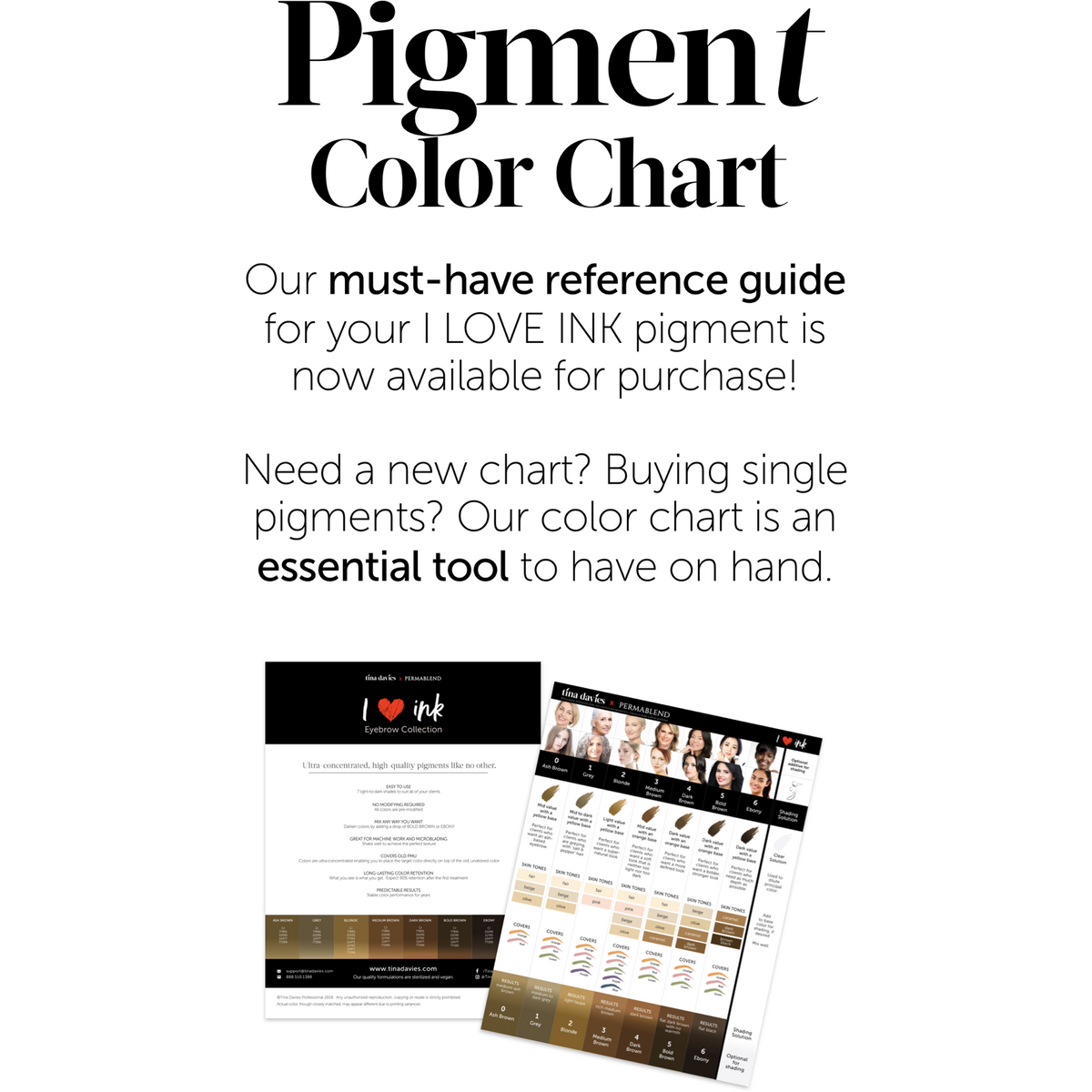 I Love Ink Pigment Chart - Laminated