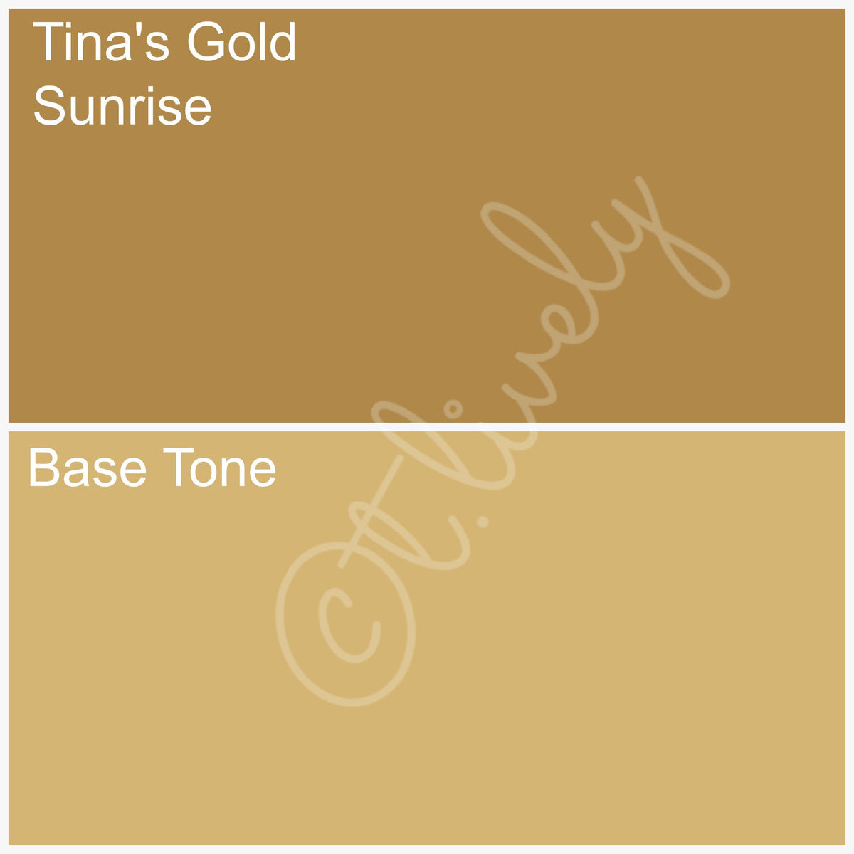 Tina's Gold Sunrise (W) - 1/2  Ounce Bottle