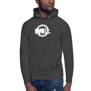 Motivated Life - Charcoal Grey Unisex Classic Hoodie with Superhero Logo (M)