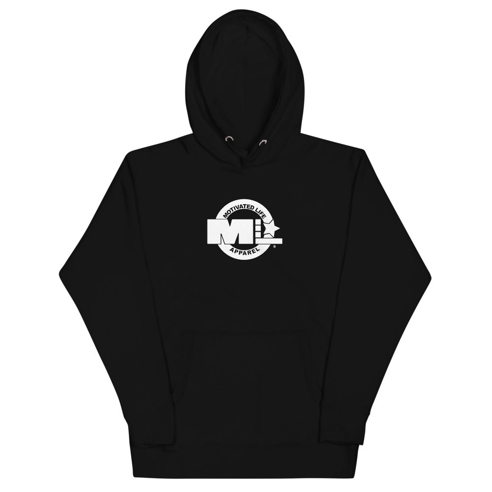 Motivated Life - Black Unisex Classic Hoodie with Superhero Logo
