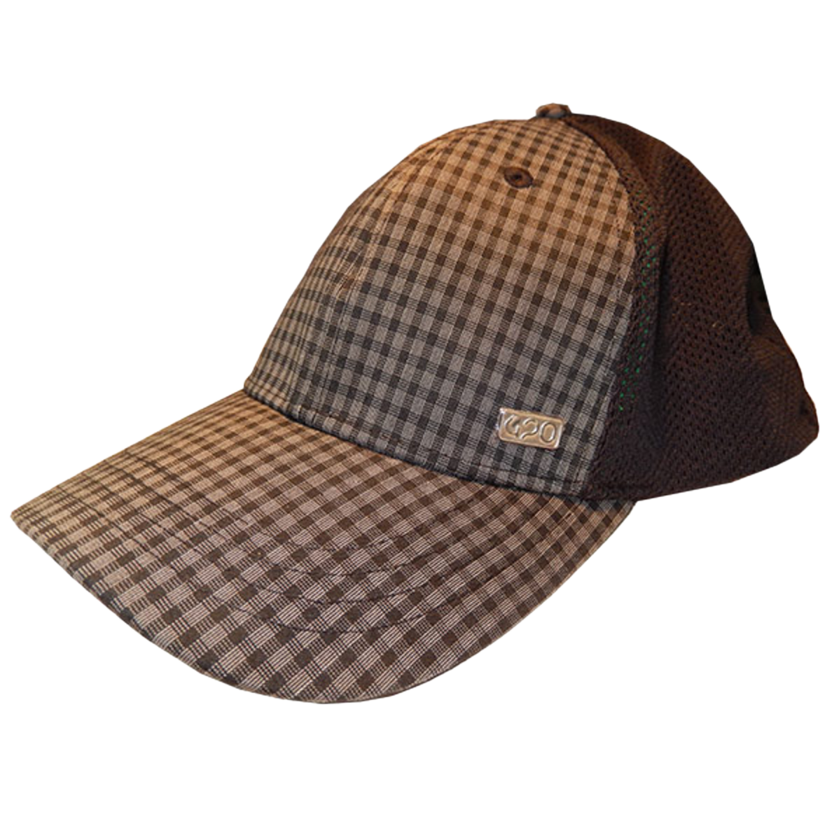 Black Plaid 420 Flex Fit Unisex Adjustable Cap with Pocket and Zipper