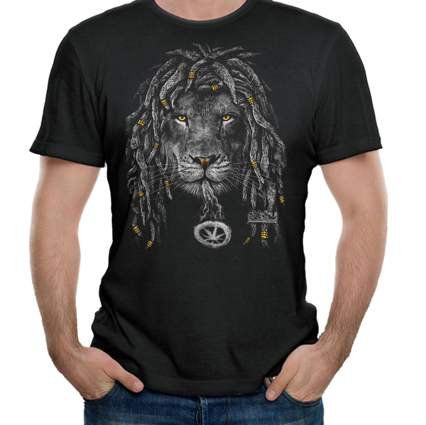 Rasta Lion Smoke Ring Tee