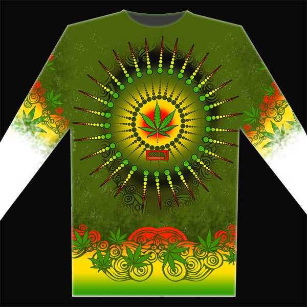 Rasta Sunrise - UPF 30 Long Sleeve Shirt UV (Sun) Protection Performance T-Shirt