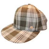 Sticky Stash Plaid Hat Unisex Adjustable Cap with Pocket and Zipper