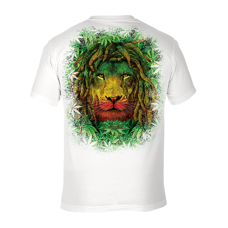 Rasta Lion - UPF 30 Short Sleeve UV (Sun) Protection Performance T-Shirt