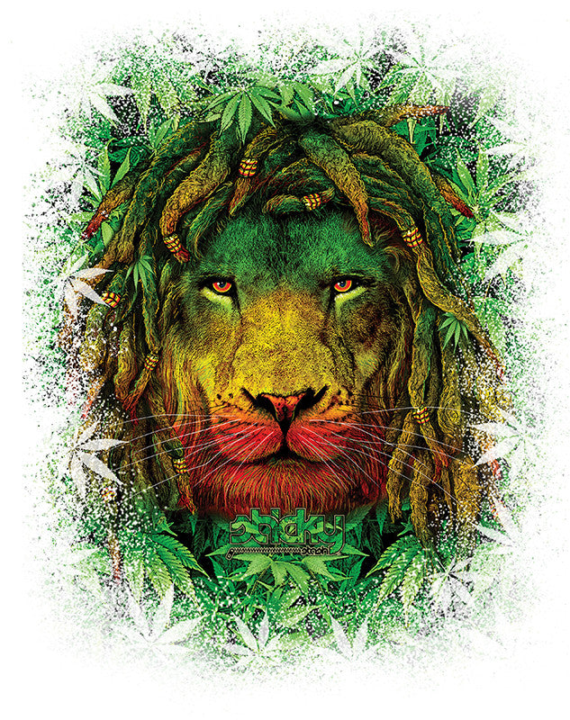 Rasta Lion - UPF 30 Long Sleeve Shirt UV (Sun) Protection Performance T-Shirt