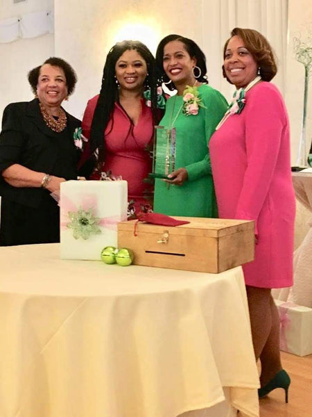 Newly Elected Congresswoman Jahana Hayes receives a custom lock box from Memories Made.