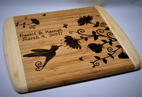 dual tone bamboo cutting boards