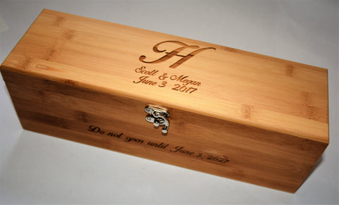wine box bamboo