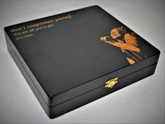 Photo Engraved Glossy Black Keepsake Boxes