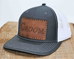 Trucker Hat with Custom Leather Patches