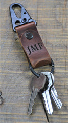 Leather Keychain Custom Engraved