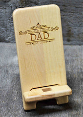 Maple Wood Cell Phone Stand