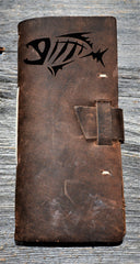Fishing Log Premium Leather Engraved