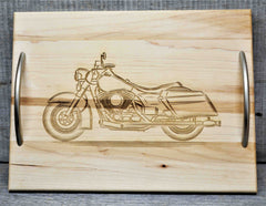 Solid Maple Wood Serving Trays - Custom Engraved - Design 8