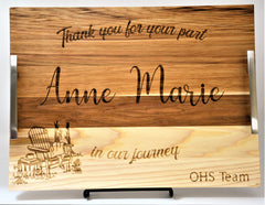 Solid Wood Serving Trays - Custom Engraved Design 3