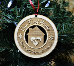 Christmas Ornament - Our First Home