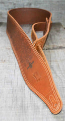 Double Stitch Butter Leather Guitar Straps