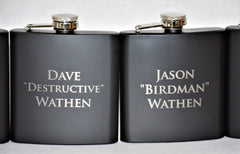 Custom Engraved Flask - 3 lines of Text