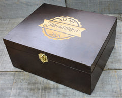 Premium Wooden Gift Box Hinged Lid With Clasp
