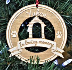 Christmas Ornament - Dog in memory of