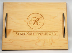 Solid Wood Serving Trays - Custom Engraved - Design 5