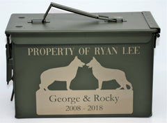 Custom Ammo Boxes - Dog Breeds - Design 20