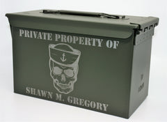 Ammo Boxes Skull and Cap - Design 21
