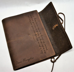 Mindset Refillable Journal Premium Leather Engraved