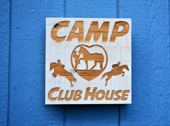 Distressed Solid Wood Signs