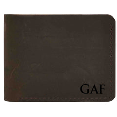 Wallet Bi-Fold Premium Leather Engraved With Inner Slots for Cards