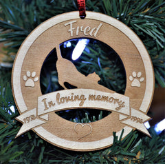 Christmas Ornament - Cat in memory of
