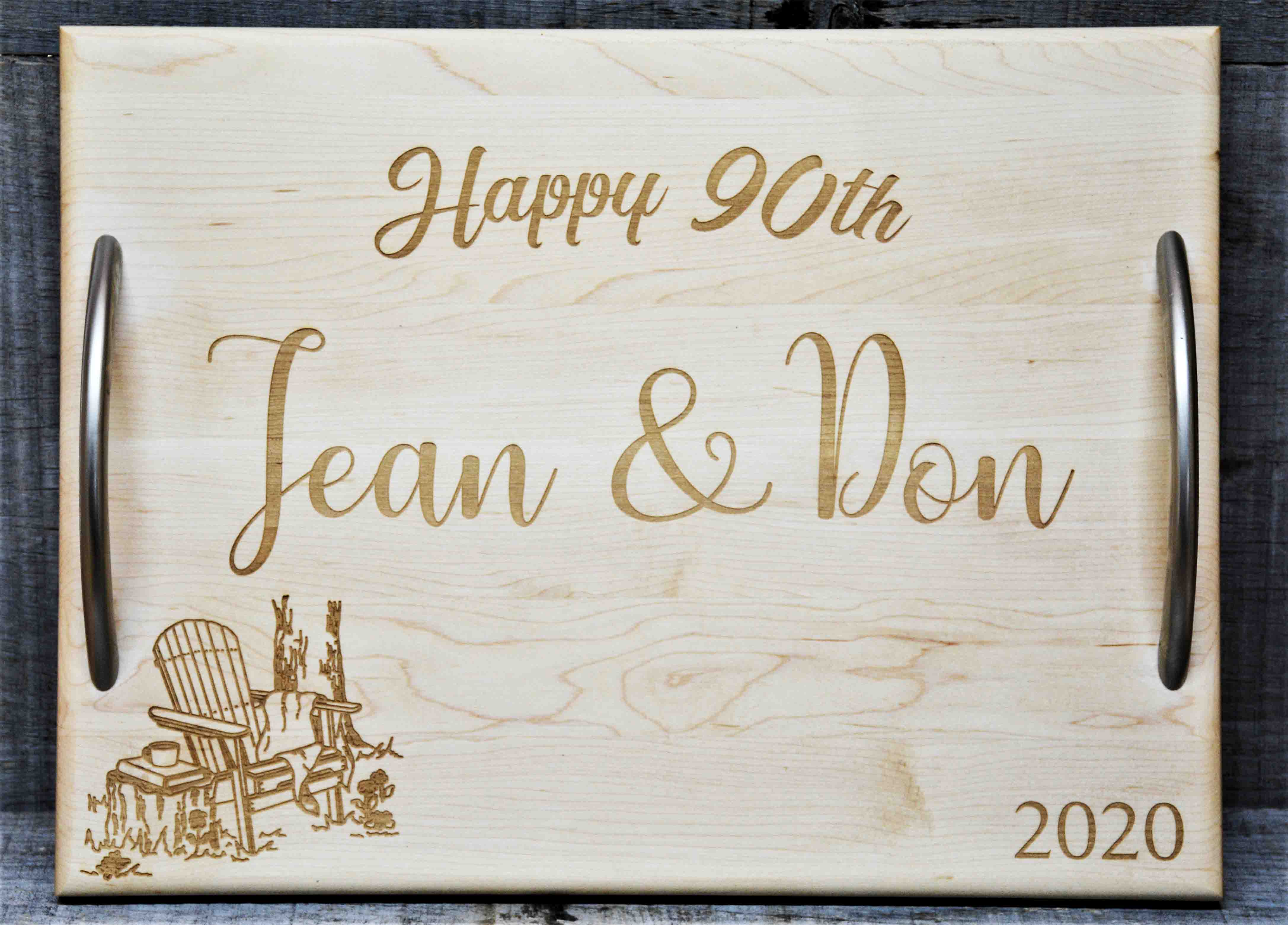custom engraved serving trays