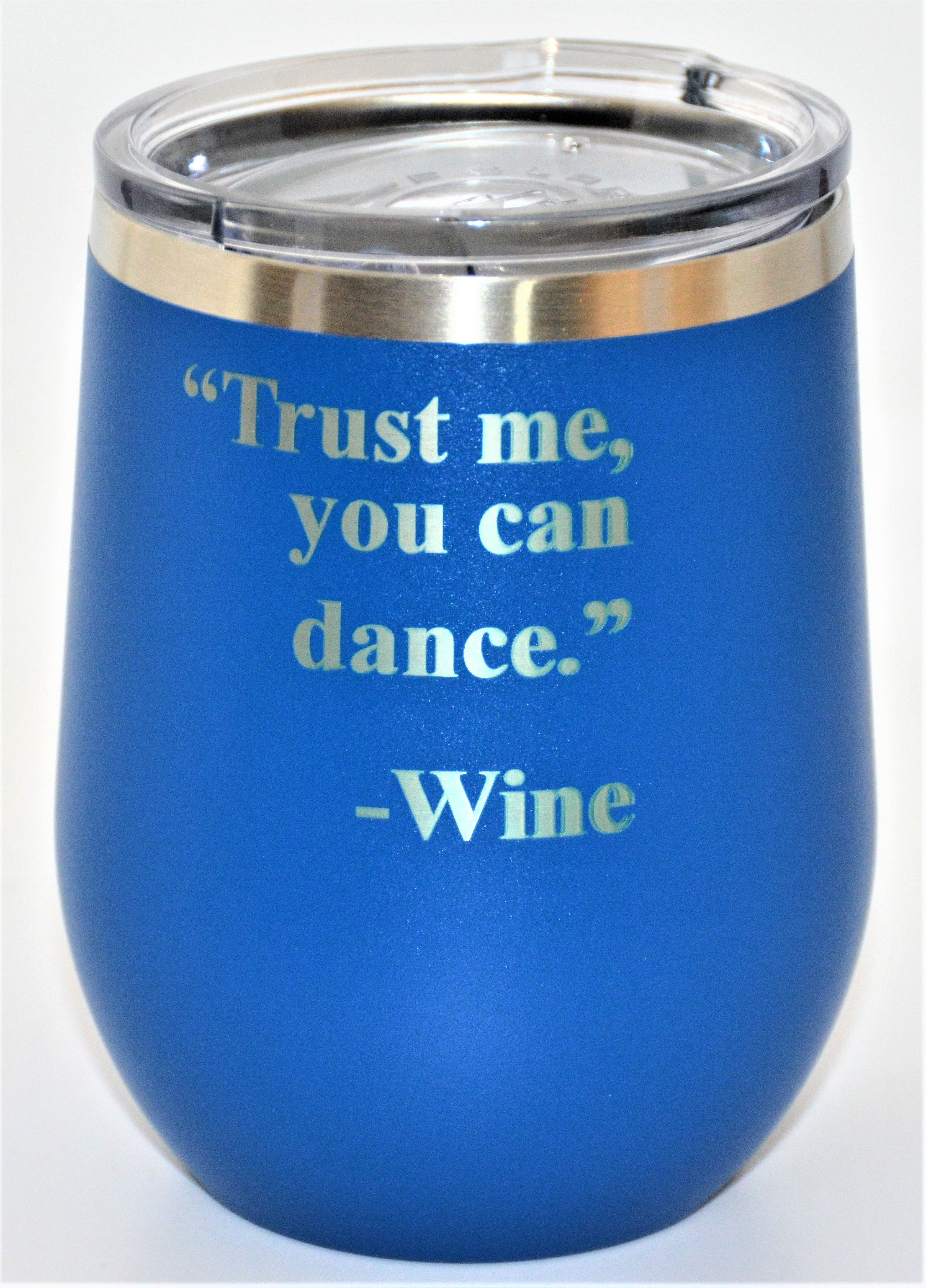 custom metal wine tumbler