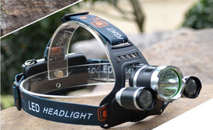 10,000 Lumen Headlamp with Charger and Batteries