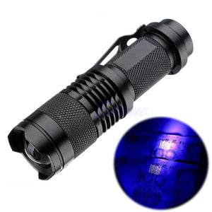 UV Flashlight - Zoomable with Belt Clip