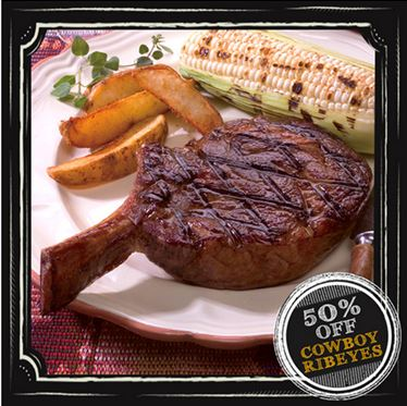 Master Chef Choice Cowboy Ribeye Blowout Special (Two 24 oz. steaks)
