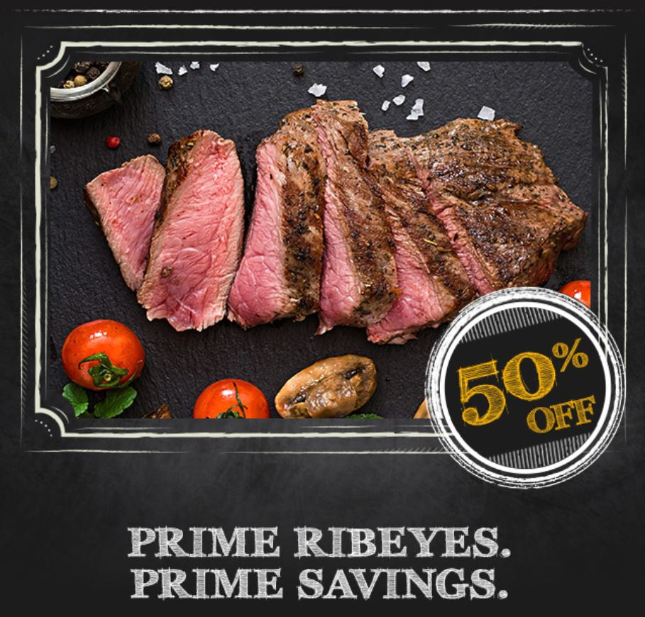 USDA Prime Ribeyes Flash Sale