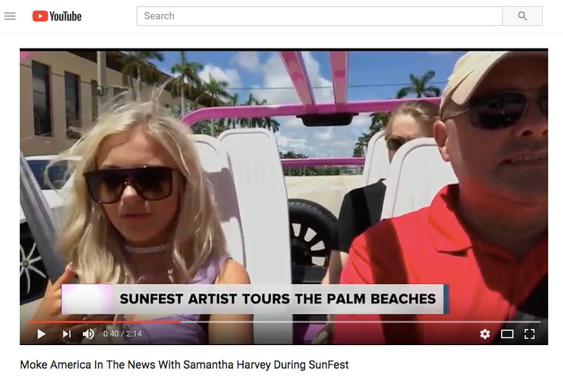 Moke America & Singer Samantha Harvey Tour Palm Beach | Video