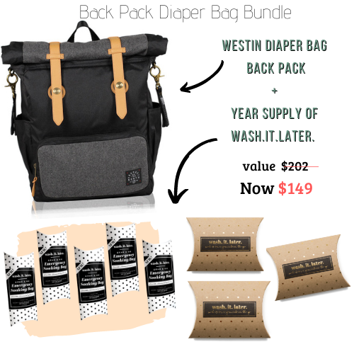 Back Pack Diaper Bag Bundle