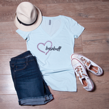 LOVE Baseball V Neck Tee