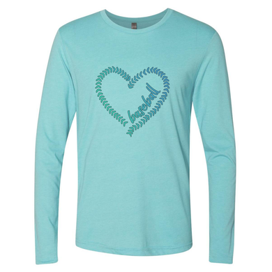 Ladies Long Sleeve Tahiti LOVE Baseball