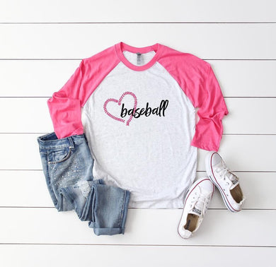 3/4 Sleeve Love Baseball Tee